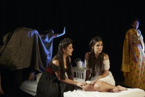 Ita Korenzecher, Raiane Cantisano, and Ayesha Saleh in ELEPHANT